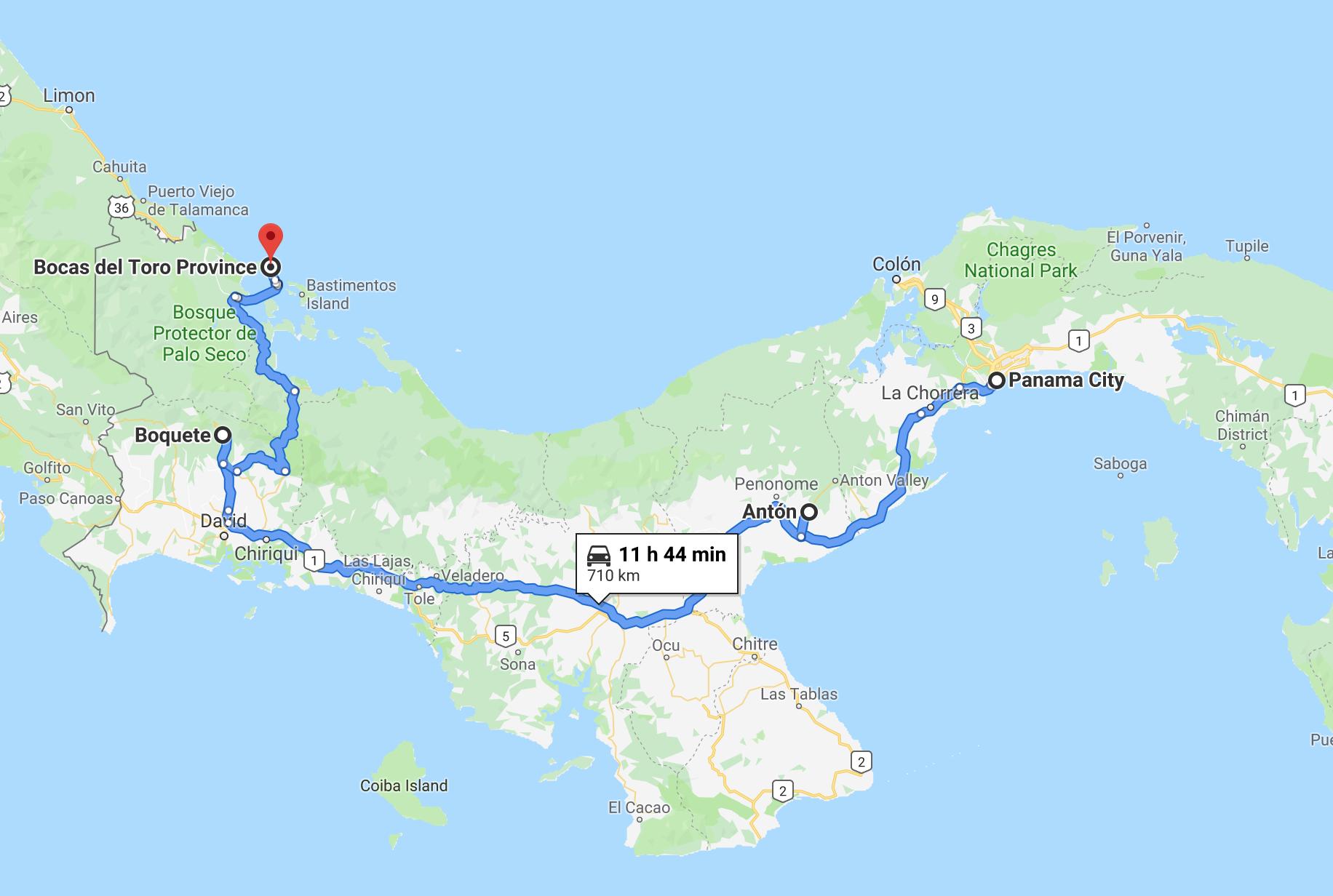 Panama Map twisht blog