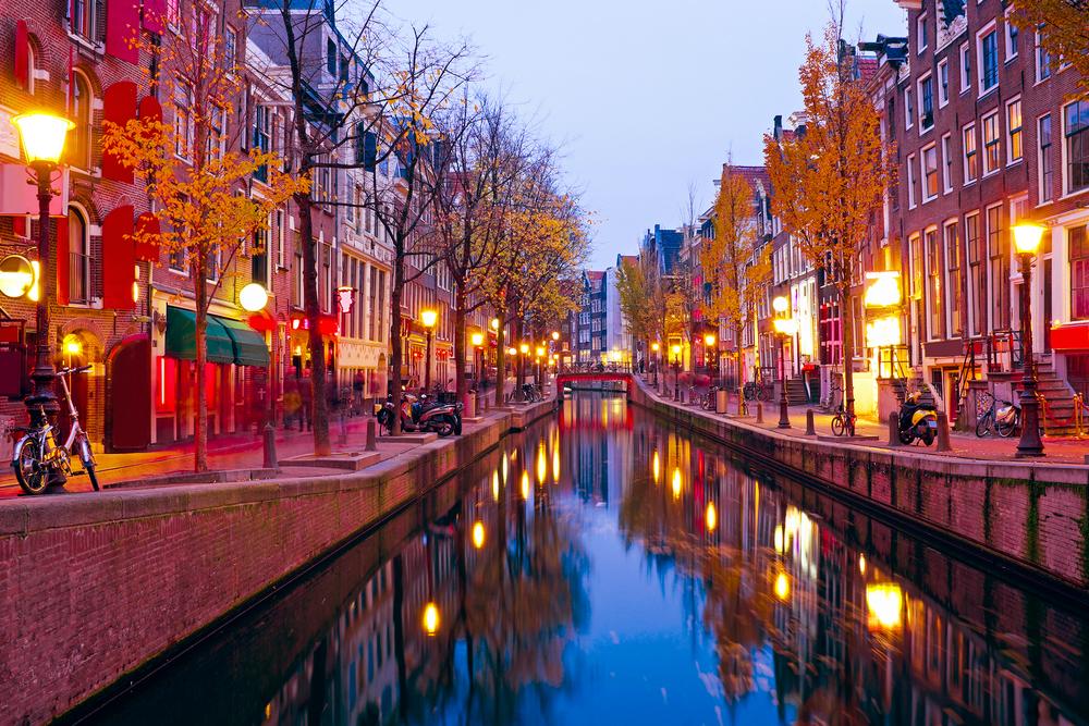 Amsterdam Red Light District twisht