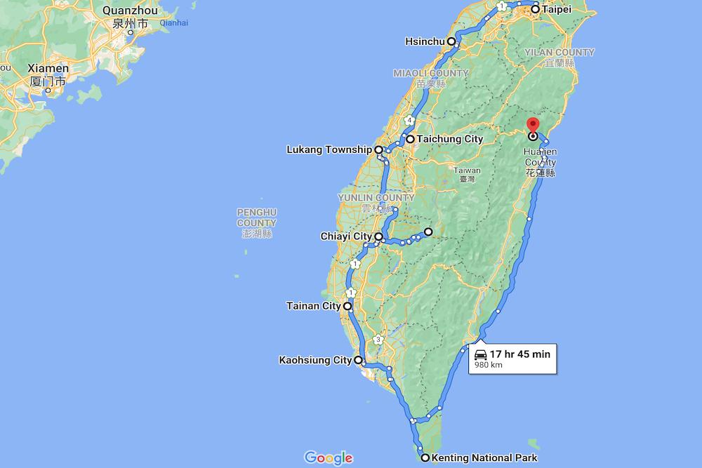 Taiwan Map twisht