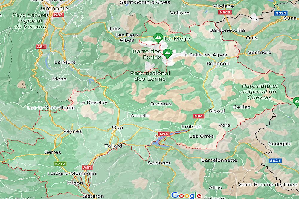 Hautes-Alpes map travelwishlist