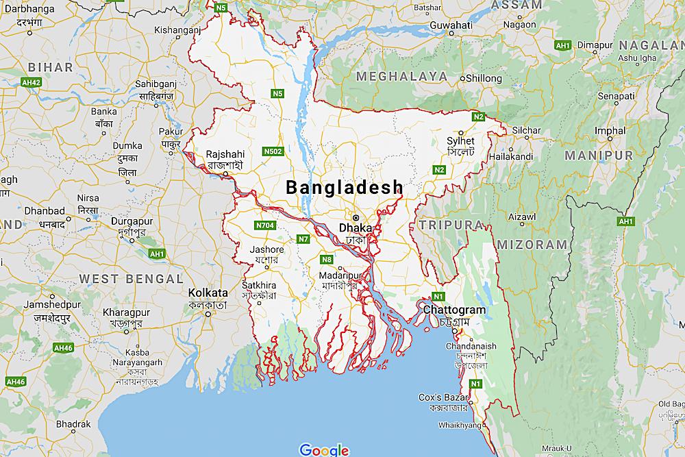 Bangladesh Map twisht