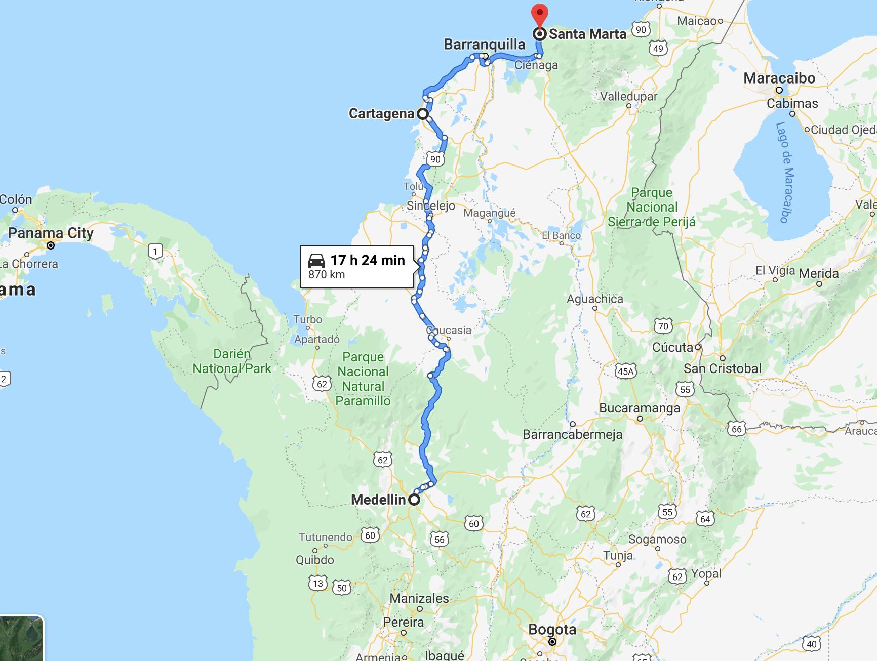 Colombia map twisht