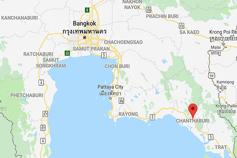 Chanthaburi, Thailand Map
