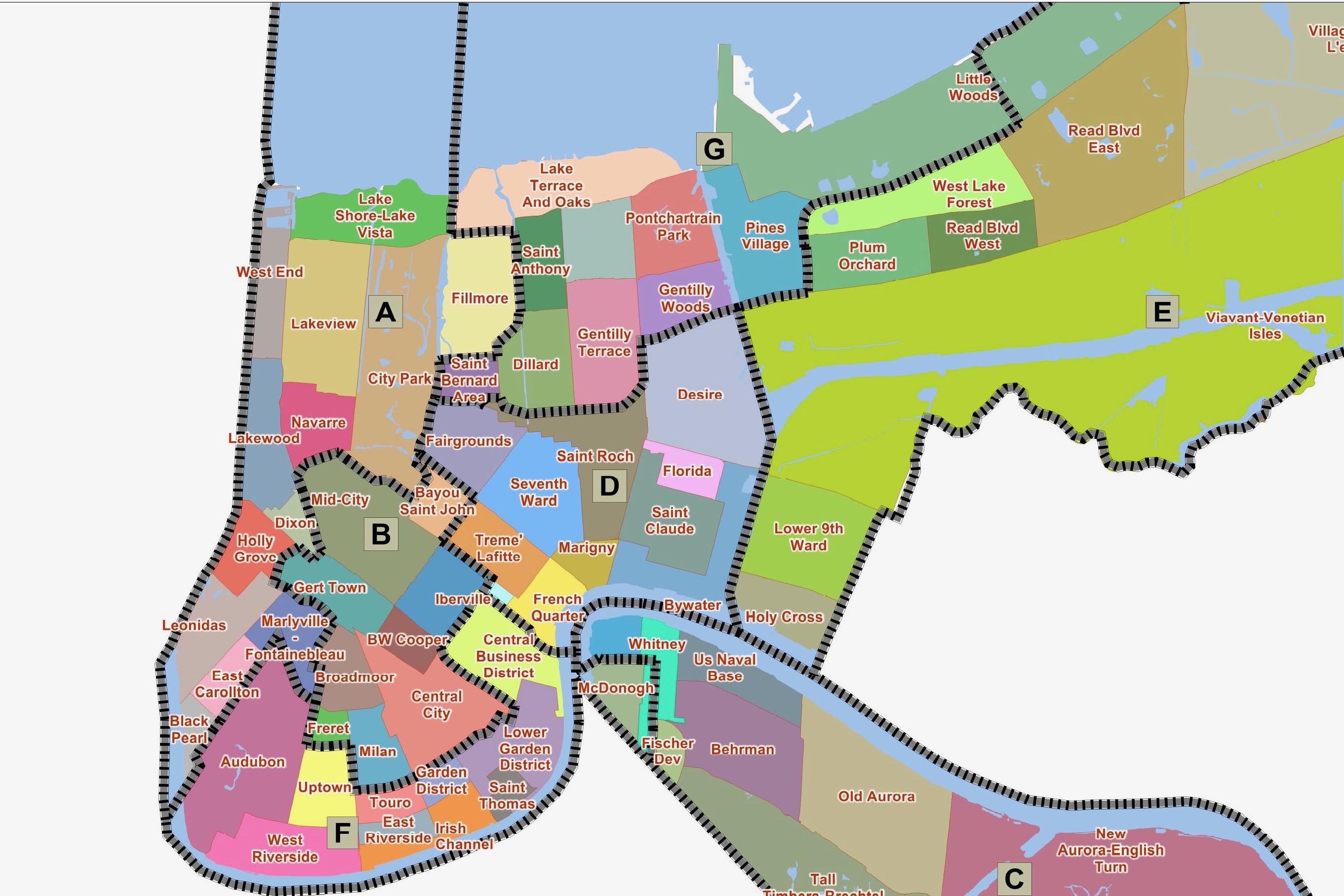 New Orleans map twisht