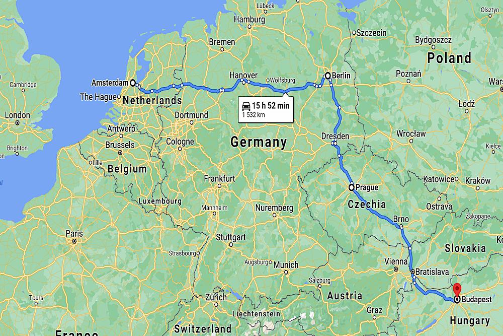 Map Europe twisht
