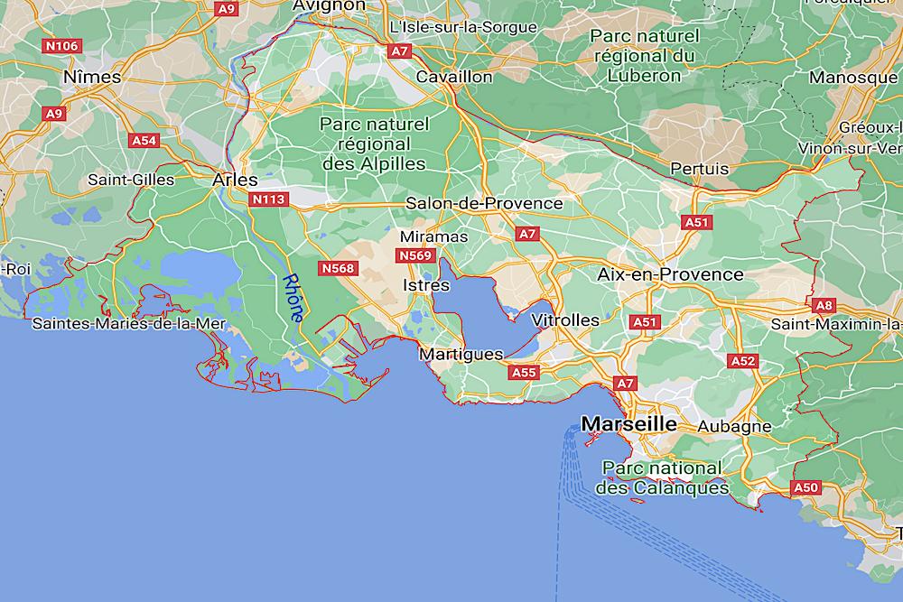 Bouches-du-Rhone map twisht