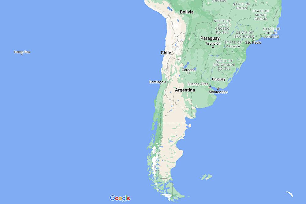 Chile Map twisht