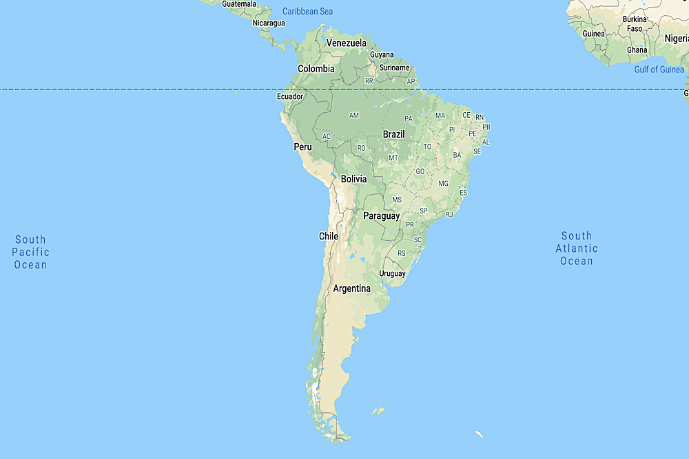 South America map twisht