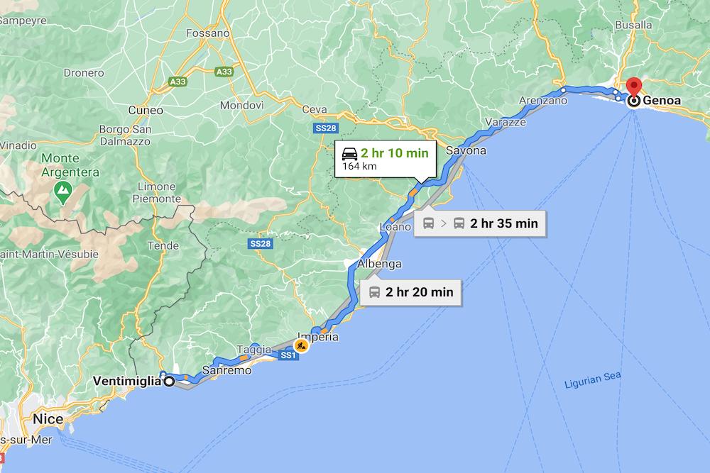 Imperia, Italy, map