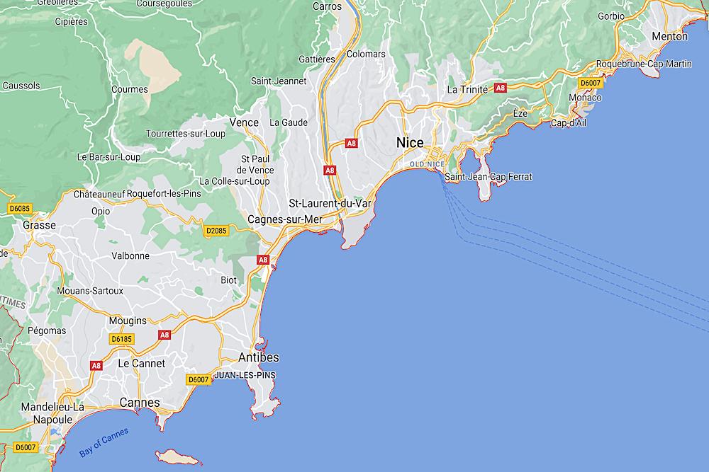 Alpes-Maritimes Map twisht