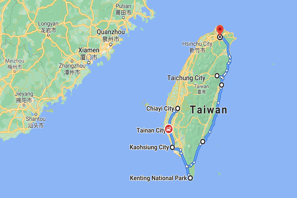 Taiwan Map twisht