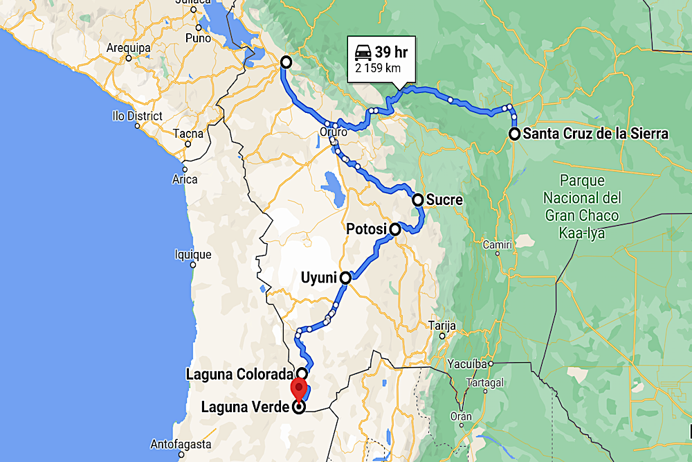Bolivia Map twisht