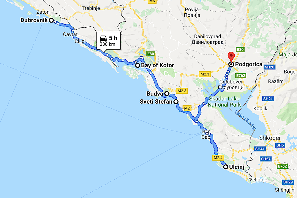 Montenegro map twisht