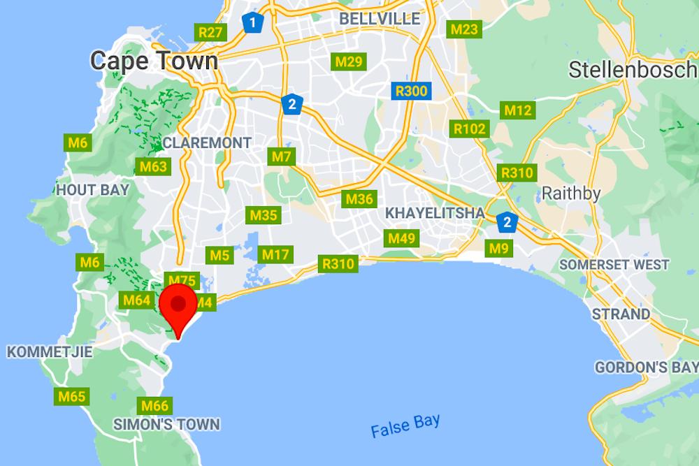 Kalk Bay map travelwishlist