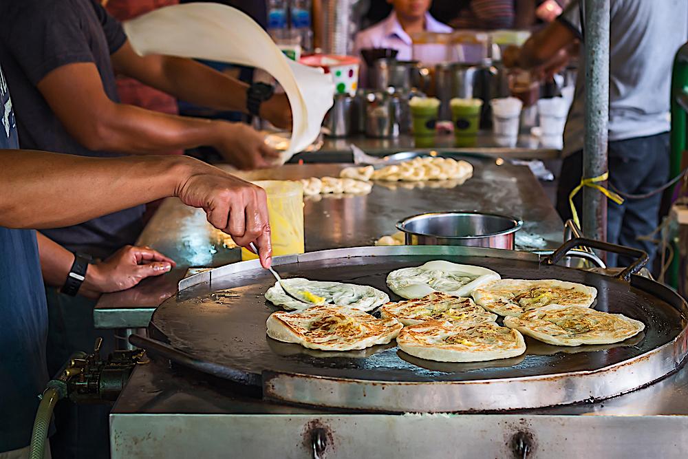 Fried banana pancake, Bangkok, Thailand