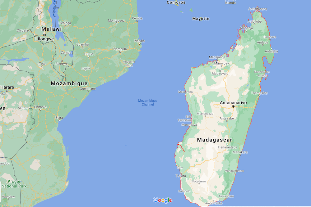 Madagascar Map twisht